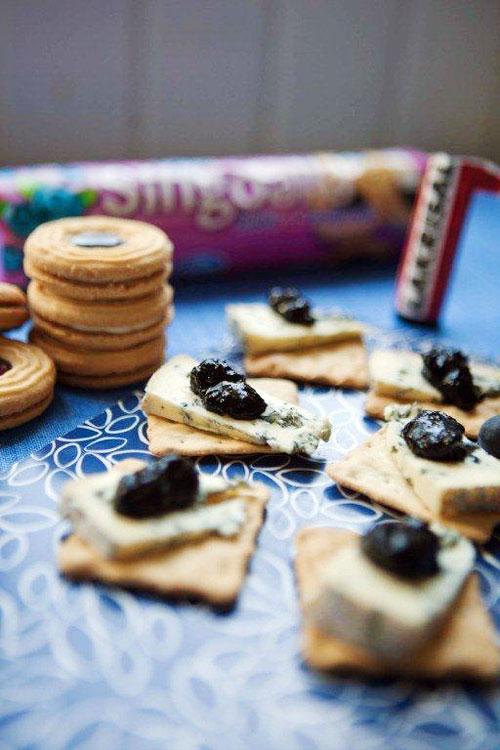 Lakrisal- och blåbärsmarmelad