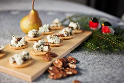 Roquefort, päron, valnötter